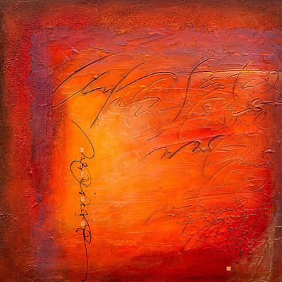 Wall Art - Painting - Red Writing by Jane Dill