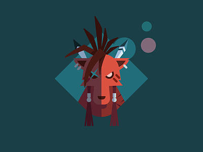 Digital Art - Red Xiii by Michael Myers