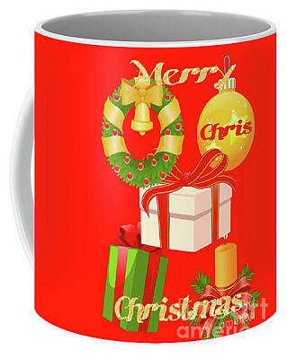 Digital Art - Red Xmas Coffee Mug  by Gayle Price Thomas