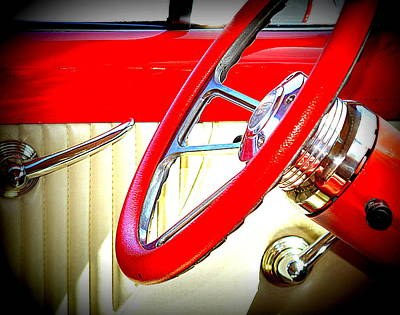 Photograph - Red Yellow Interior by Kimberly-Ann Talbert