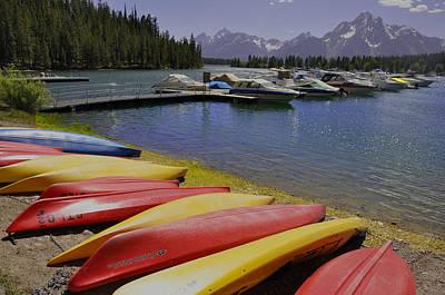 Canoe Digital Art - Red Yellow by Vijay Sharon Govender