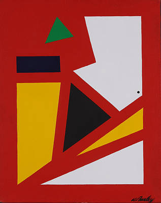 Painting - Red Yellow White by Bill Bailey