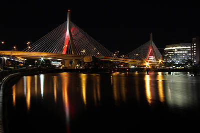 Photograph - Red Zakim by Juergen Roth