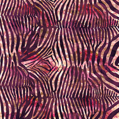 Painting - Red Zebra Print by Aloke Creative Store