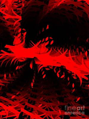 Digital Art - Red Zone by Cooky Goldblatt