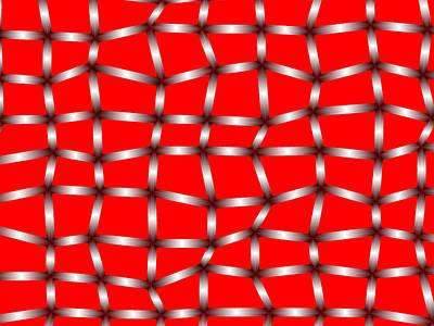 Fence Digital Art - Red.147 by Gareth Lewis