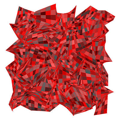 Rock Digital Art - Red.165 by Gareth Lewis