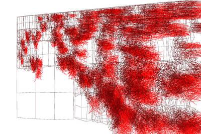 Structure Digital Art - Red.196 by Gareth Lewis