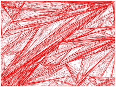Rocks Digital Art - Red.280 by Gareth Lewis