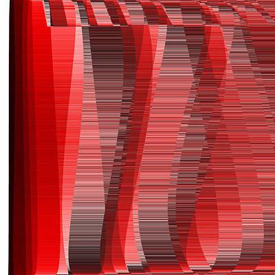 People Digital Art - Red.29 by Gareth Lewis