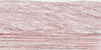 Hills Digital Art - Red.315 by Gareth Lewis