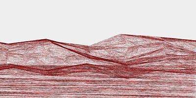 View Digital Art - Red.317 by Gareth Lewis