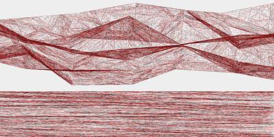 Rocks Digital Art - Red.319 by Gareth Lewis