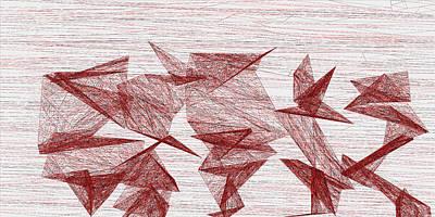 Stone Digital Art - Red.322 by Gareth Lewis