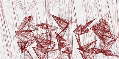 Waves Digital Art - Red.323 by Gareth Lewis