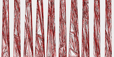 Mountains Digital Art - Red.325 by Gareth Lewis