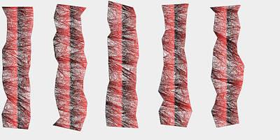 Ground Digital Art - Red.335 by Gareth Lewis