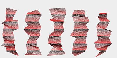 Stone Digital Art - Red.339 by Gareth Lewis
