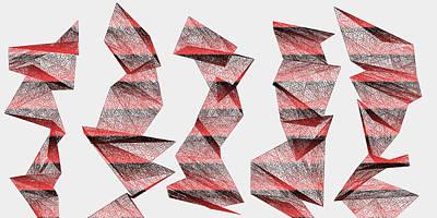 Ground Digital Art - Red.340 by Gareth Lewis