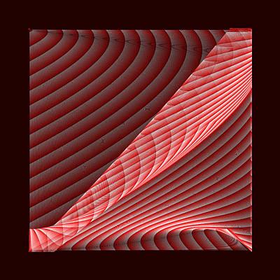 Shadow Digital Art - Red.67 by Gareth Lewis