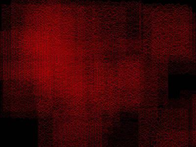 Fence Digital Art - Red.92 by Gareth Lewis