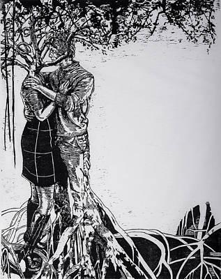 Printmaking Mixed Media - Redamancy by Jenie Gao
