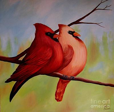 Painting - Redbirds by Valerie Carpenter