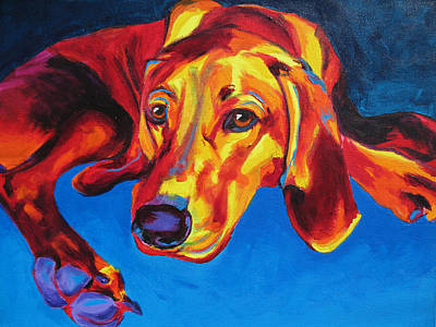 Dawgart Painting - Redbone Coonhound by Alicia VanNoy Call