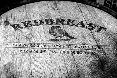 Photograph - Redbreast Whiskey Barrel by Georgia Fowler