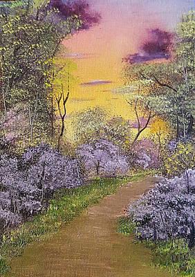 Painting - Redbud Lane by Tom Conboy