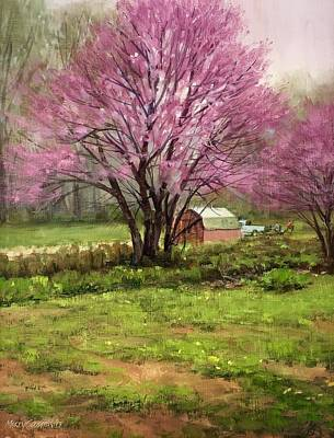 Painting - Redbud by Marty Coulter