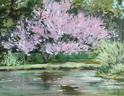 Painting - Redbud Reflections by Outre Art Natalie Eisen