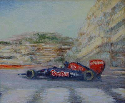 Redbull Racing Car Monaco  Art Print