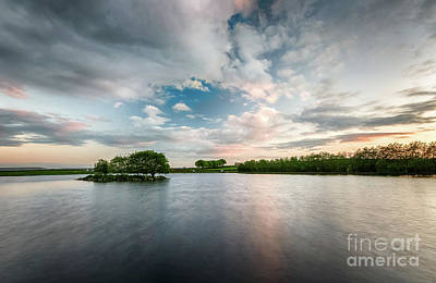 Photograph - Redcar Tarn During Sunset by Mariusz Talarek