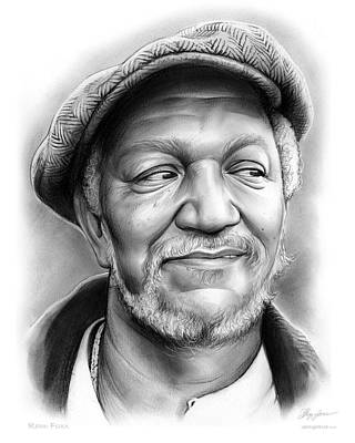 Celebrities Royalty-Free and Rights-Managed Images - Redd Foxx by Greg Joens
