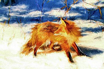 Fox Digital Art - Redd Foxx Series by Geraldine Scull
