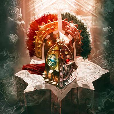 Redeemer Digital Art - Redeemer's Helm by Ryan Barger