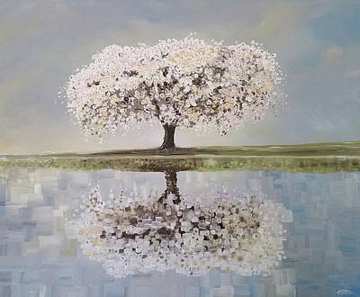 Cherry Blossoms Painting - Redemption Season by Deda Happel