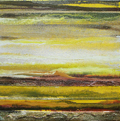 Redesdale Rhythms And Textures Series No3 Yellow And Sepia Art Print by Mike   Bell