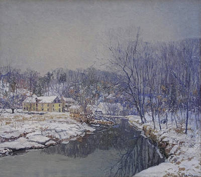 Impressionism Photos - Redfields The Mill In Winter by Cora Wandel