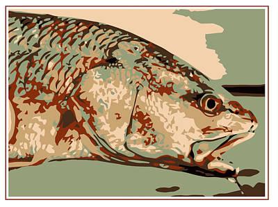 Redfish Camo Art Print by David Danforth