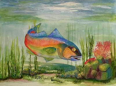 Painting - Rainbow Fish by Jane Ricker