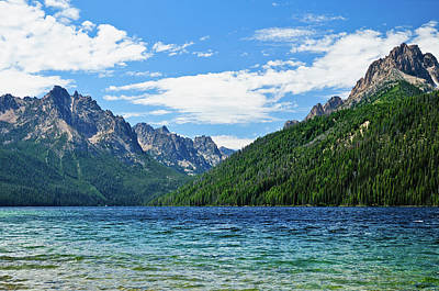 Sawtooth Mountain Art Photograph - Redfish Lake by Greg Norrell