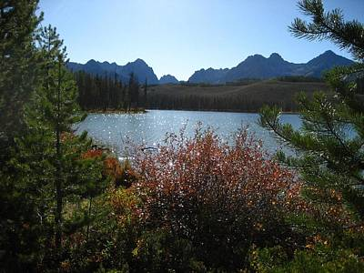 Photograph - Redfish Lake In The Idaho Sawtooths by Sherry Oliver