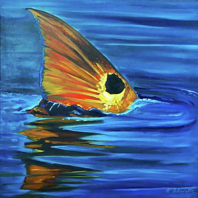 Painting - Redfish Tail by Monika Urbanska