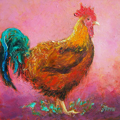 Farmyard Painting - Redford The Rooster by Jan Matson