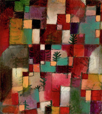 Switzerland Painting - Redgreen And Violet-yellow Rhythms by Paul Klee
