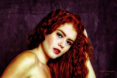 Photograph - Redhead ... by Chuck Caramella