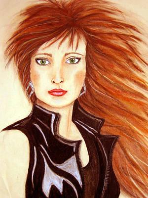 Pastel - Redhead 1990's by Barbara J Blaisdell