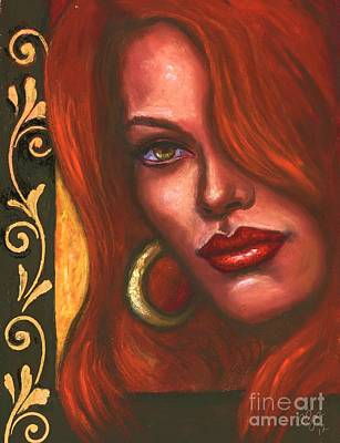 Painting - Redhead by Alga Washington